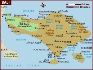 map of bali indonesia
